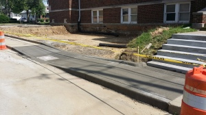 New Wheelchair Accessible Sidewalk 6/4/15