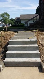 New Steps and Sidewalk