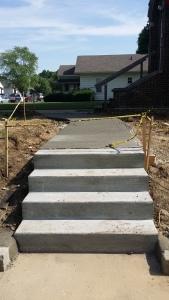 New Steps and Sidewalk