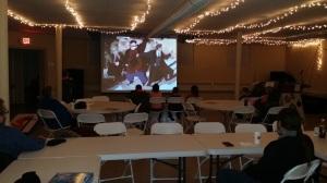 Screen in banquet room